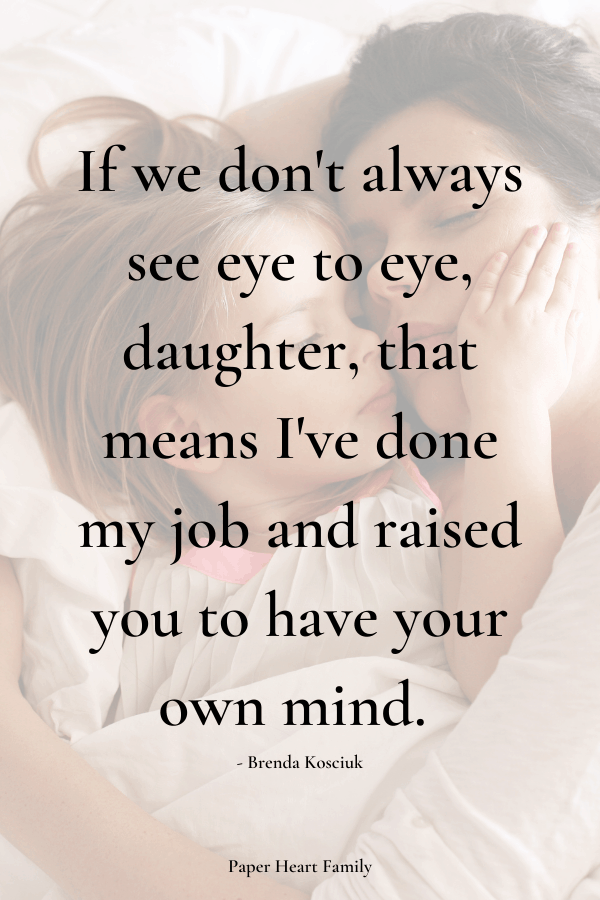 Quotes from a mother to a daughter