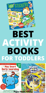 Activity books and workbooks for toddlers